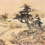 Chinese artists of the Middle Ages - Yuan Yao [袁耀 - 山水图(之一二)]