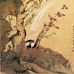Chinese artists of the Middle Ages - Zhou Zhi Mian [周之冕 - 杏花锦鸡图]