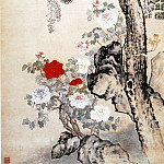 Chinese artists of the Middle Ages - Li Chan [李蝉 - 松石紫藤图]