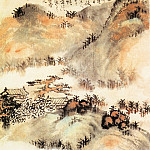 Chinese artists of the Middle Ages - Kun Can [髡残 - 松岩楼阁图]