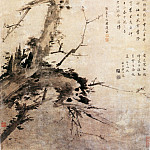 Chinese artists of the Middle Ages - Liu Qikan [刘期侃 - 指画梅鹰图]