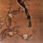 Chinese artists of the Middle Ages - Ling Bizheng [凌必正 - 碧桃春鸟图]