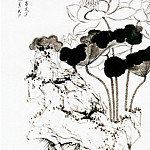 Chinese artists of the Middle Ages - Chen Hong Shou [陈洪绶 - 莲石图]