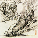 Chinese artists of the Middle Ages - Song Jue [宋珏 - 山楼对雨图]
