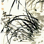 Chinese artists of the Middle Ages - Wu Changshuo [吴昌硕 - 墨兰图]