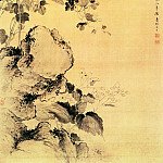 Chinese artists of the Middle Ages - Jiang Tingxi [蒋廷锡 - 海棠牵牛图]