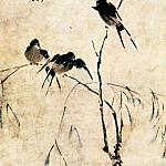 Chinese artists of the Middle Ages - Wang Wenzhi [王文治 - 柳燕图]
