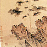 Chinese artists of the Middle Ages - Dai Jin [戴进 - 葵石蛱蝶图]
