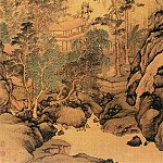 Chinese artists of the Middle Ages - Pan Gongshou [潘恭寿 - 重岩暮霭图]