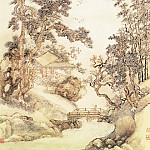 Chinese artists of the Middle Ages - Wang Yun [王晕 - 夏五吟梅图]