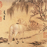 Chinese artists of the Middle Ages - Wang Zhicheng [王致诚 - 十骏马图(之一、二)]