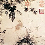 Chinese artists of the Middle Ages - Zhu Zhanji [朱瞻基 - 瓜鼠图]