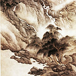 Chinese artists of the Middle Ages - Fa Ruo Zhen [法若真 - 树梢飞泉图]