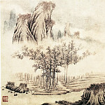Chinese artists of the Middle Ages - Fan Qi [樊圻 - 山水图(之—、二)]