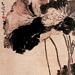 Chinese artists of the Middle Ages - Huang Shen [黄慎 - 莲塘双禽图]