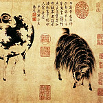 Chinese artists of the Middle Ages - Zhao Meng Shun [赵孟顺 - 二羊图]