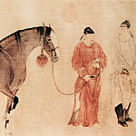 Chinese artists of the Middle Ages - Ren Renfa [任仁发 - 人马图(部分)]