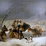 Part 2 Prado Museum - Goya y Lucientes, Francisco de -- La nevada, o El Invierno