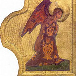 Perm iconostasis. Royal Doors with the shadow of the gate. Annunciation. Angel Gabriel, Roerich N.K. (Part 1)