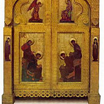 Perm iconostasis. Royal gates with gate shadow, Roerich N.K. (Part 1)