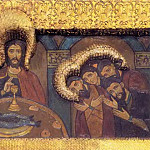 Perm iconostasis. Royal Doors with the shadow of the gate. Last Supper, Roerich N.K. (Part 1)