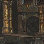 Roerich N.K. (Part 1) - Rostov. Interior of the Church of the Savior (1)