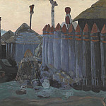 900 Classic russian paintings - Pagan temple