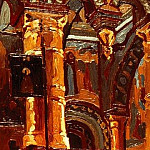 Roerich N.K. (Part 1) - Rostov. Interior of the Church of the Savior (2)