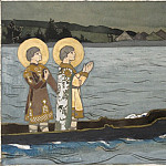 The Saints Boris and Gleb , Roerich N.K. (Part 1)