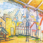 Courtyard Galitsky, Roerich N.K. (Part 1)