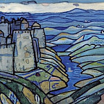 Northern landscape with a fortress, Roerich N.K. (Part 1)