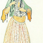 Sketch of costume Polovchanka , Roerich N.K. (Part 1)