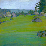 Landscape with boulders, Roerich N.K. (Part 1)