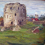 Study Pskov tower, Roerich N.K. (Part 1)