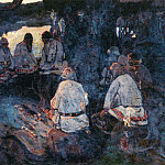 Roerich N.K. (Part 1) - Gathering elders (sketch for homonymous painting)