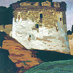 Pechora. Monastery walls and towers of the, Roerich N.K. (Part 1)