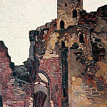 Roerich N.K. (Part 1) - Wenden. The ruins of the chapel (Livonian Castle. Cesis, Latvia)