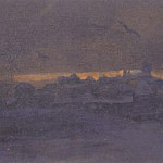 Sunset over convent, Roerich N.K. (Part 1)