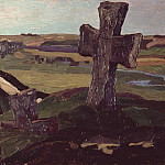 Roerich N.K. (Part 1) - Izborsk. The cross on the mound Truvor