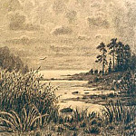 The expanses of Lake Ladoga. A copy of the picture II Shishkin, Roerich N.K. (Part 1)