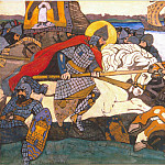 Alexander Nevsky strikes Jarl of Birger, Roerich N.K. (Part 1)