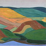 Hilly landscape, Roerich N.K. (Part 1)