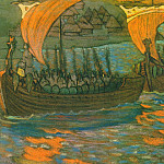 Roerich N.K. (Part 1) - V campaign on boats (Rook) (composition sketch)