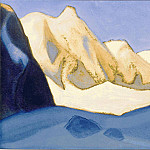 Himalayas # 53 Miracle of pink snows, Roerich N.K. (Part 6)