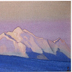 Roerich N.K. (Part 6) - Himalayas # 151 Pink tops in the pink sky