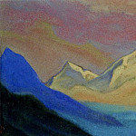 Himalayas # 79 Sunset sky above the tops, Roerich N.K. (Part 6)