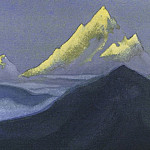 The Himalayas # 133 The dying apexes, Roerich N.K. (Part 6)