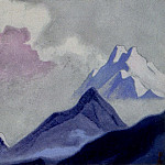 Himalayas # 16 Mountain range and clouds, Roerich N.K. (Part 6)