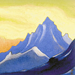 Himalayas # 30 Sonata of aboveground paints, Roerich N.K. (Part 6)