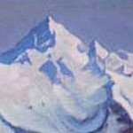 Himalayas # 84 Blue haze mountain distances, Roerich N.K. (Part 6)
